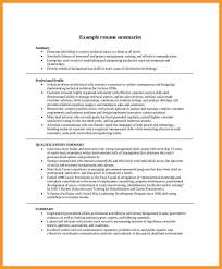 Resume Overview Example - Examples of Resumes