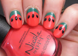 Simple Ruffian Watermelon Nail Art! - Adventures In Acetone