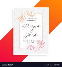 Beautiful Wedding Invitation Card Design Lovely Floral Wedding Invitation Card Design