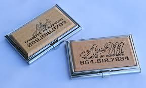 Laser Engraved Business Card Holder Visual Horizons Custom Signs