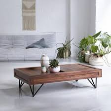 Home, Furniture & DIY <b>Solid Sheesham Wood</b> Coffee Table Steel 68 ...