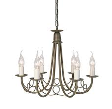 minster black gold 6 light chandelier elstead lighting