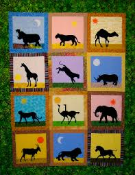 Animal Quilt Patterns Extraordinary African Safari Animals Quilt Pattern