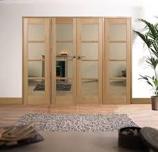 splendid image of home interior decoration using oak wood frame glass ikea sliding room divider including