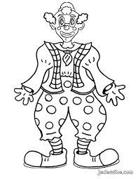 Coloriages Un Clown Rigolo Fr Hellokids Com
