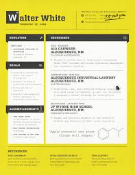 Fictional Character Resume Template Walter White Resume Loft Resumes Blog 1