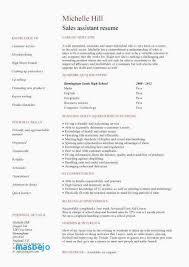 High School Resume Template For College Application Elegant Resume