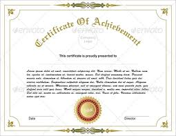 Printable Achievement Certificates 33 Fabulous Achievement Certificate Templates Designs Free