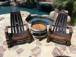 wine barrel outdoor furniture. Wine Barrel Adirondack Chair With Free Shipping Outdoor Furniture N