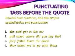 Punctuation Quotes Ela Quotation Marks Punctuating Direct Indirect Quotes Powerpoint Ppt