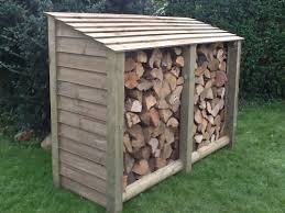 ... than building your own store out of old pallets and wood. The low wide  design provides opportunities to store logs in lots of locations in your  garden.