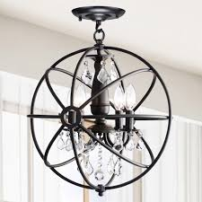 flush mount crystal chandelier. Benita Antique Black 4-light Iron Orb Flush Mount Crystal Chandelier - Free Shipping Today Overstock 17071077 C