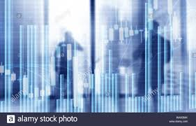 Stock Market Graph And Bar Chart Abstract Blurred Universal