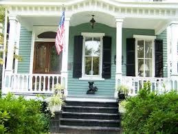 House With Black Trim Green White Black Trim Exterior House Colors Pinterest