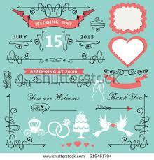 wedding invitations design template setswirling decor stock vector Wedding Invitations Design Vector wedding invitations design template set swirling decor elements,pigeons,ribbons,label, wedding invitations design vector free download