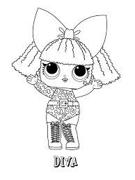 Lol Doll Coloring Pages Coloringrocks