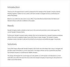 Website Bid Proposal Template
