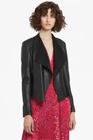 stephanie faux leather waterfall jacket loading images