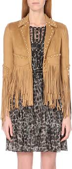 gallery previously sold at selfridges women s fringed leather jackets