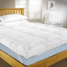 kingtex mattress topper 180x200cm 500gsm with microfiber outer white