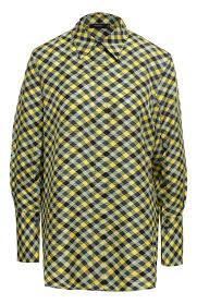 Женская желтая шелковая <b>рубашка JOSEPH</b> — купить за 36100 ...