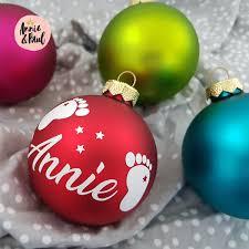 Weihnachtsbaumkugel Personalisiert Mit Name 75 Cm