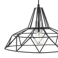hitika 1lt pendant black polished chrome