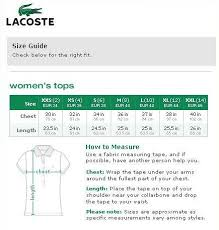 Supreme Lacoste Size Chart Www Bedowntowndaytona Com