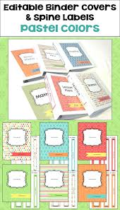 Editable Binder Cover Templates Free Binder Cover And Spine Template