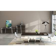 contemporary furniture dining tables. modrest sherman modern ebony dining table contemporary furniture tables