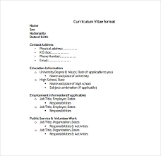general format of resume