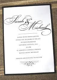 Invitations Formal Elegant Wedding Invitations Formal Wedding Invites