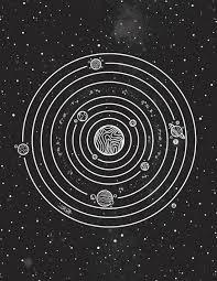 Solar System Art Print Solar System Art Systems Art