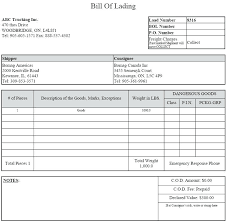 Bill Of Lading Sample Pdf Together With Bill Lading Form Template