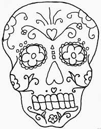 de los muertos skull coloring pages