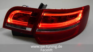 Audi A3 8p Rear Lights Sw Celi Led Taillight For Audi A3 Sportback 8pa 03 13 Red Clear Lightbar Sw Tuning
