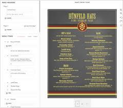 Make A Menu For A Restaurant German Menu Creator Authentic German Menus Musthavemenus