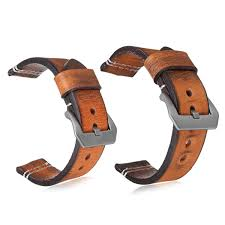 22 24mm leather wrist watch band strap vintage retro thick band men s belt 24mm cod