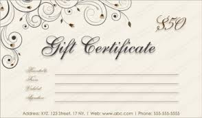 Mothers And Fathers Day Gift Certificate Templates