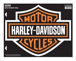 harley davidson bar shield x large decal x large size sticker