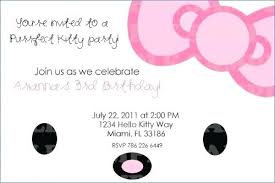 Free Templates For Invitations Printable Hello Kitty Birthday Party Invitation Printable Free Templates