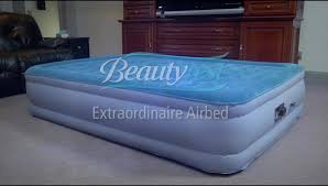 simmons air mattress. simmons beautyrest extraordinaire raised air bed mattress with iflex support and built-in pump, multiple sizes - walmart.com t