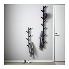 Black Wall Coat Rack Ikea TJUSIG Wall Hanger Hat Rack Coat Rack BLACK Tree Branch Style 90