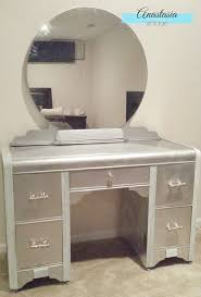 diy metallic furniture. faux silver leaf art deco vanity with rustoleum metallic spray paint beautiful diy furniture makeover diy i