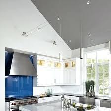 Full Image for Track Lighting Kitchen Sloped Ceiling Vaulted Ceilings For  ...