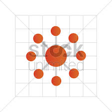 Free Circle Wheel Chart On Graph Paper Vector Image