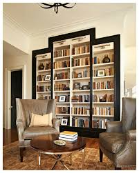 Living Room Bookshelf Decorating Bookshelves Love The Dark Trim Around Them Really Sets Them Off