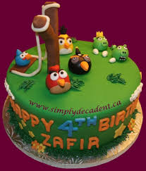 Fondant Angry Birds Cake CakeCentral