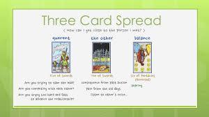 reading tarot cards sle readings three card spread