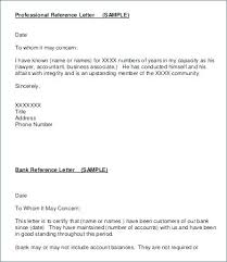 Bank Reference Letter Template Simple Business Reference Letter Template Lepalme
